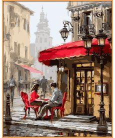 Картина по номерам Лондонское кафе (в раме) 40 х 50 см (NB442R)