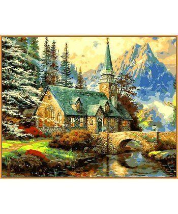 Картина по номерам Альпийский пейзаж. Часовня (в раме) 40 х 50 см (NB497R)  - Фото 1