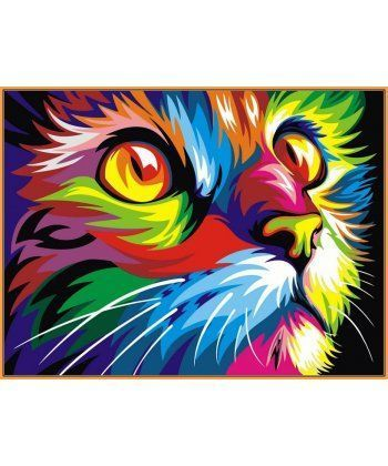 Картина по номерам Радужный кот (в раме) 40 х 50 см (NB532R)  - Фото 1
