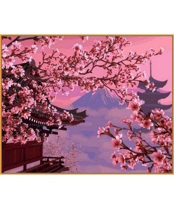 Картина по номерам Японский пейзаж (в раме) 40 х 50 см (NB595R)  - Фото 1