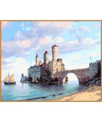 Картина по номерам Цитадель на острове (в раме) 40 х 50 см (NB853R)  - Фото 1