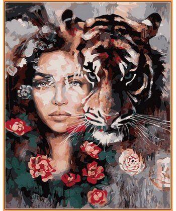 Картина по номерам Глаза тигра (в раме) 40 х 50 см (NB966R)  - Фото 1