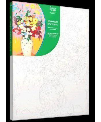 Картина по номерам Ваза с цветами (без коробки) 35 х 45 см (RS-N00013081)  - Фото 1