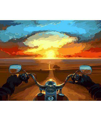 Картина по номерам Дорога в закат 40 х 50 см (VP1075)  - Фото 1