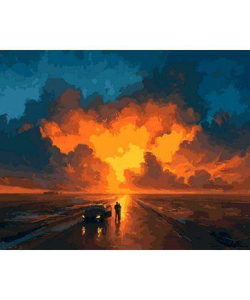 Картина по номерам Закатное небо 40 х 50 см (VP1076)  - Фото 1