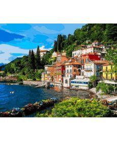 Картина по номерам Италия Озеро Комо 40 х 50 см (VP1086)