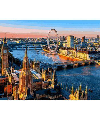 Картина по номерам Лондон Вид на Темзу 40 х 50 см (VP1089)  - Фото 1