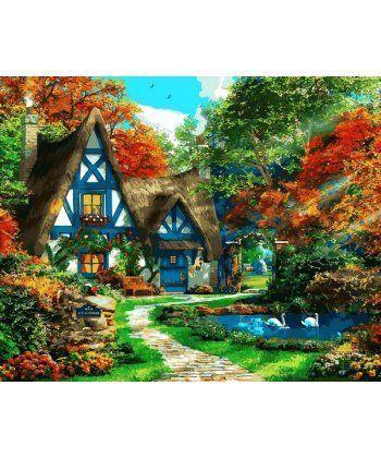 Картина по номерам Домик на опушке леса 40 х 50 см (VP1090)  - Фото 1