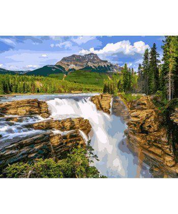 Картина по номерам Водопад в чаще леса 40 х 50 см (VP1093)  - Фото 1