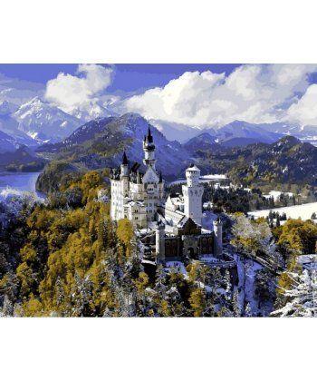 Картина по номерам Замок Нойшванштайн зимой 40 х 50 см (VP1094)  - Фото 1