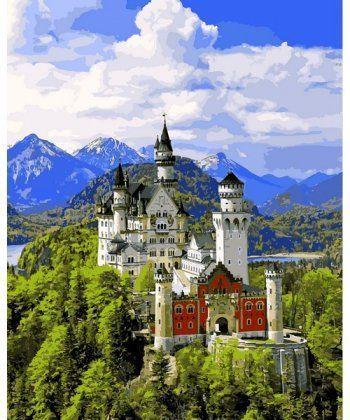 Картина по номерам Вид на замок Нойшванштайн 40 х 50 см (VP1095)  - Фото 1
