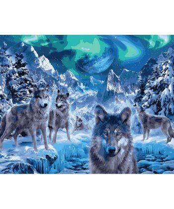 Картина по номерам Волки и северное сияние 40 х 50 см (VP1102)  - Фото 1