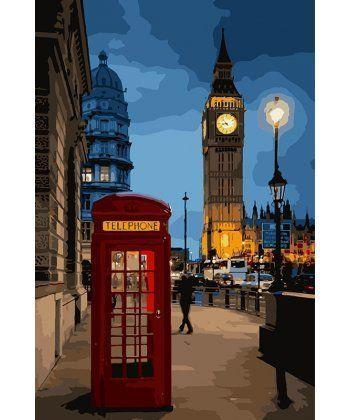 Картина по номерам Вечерний Лондон 35 х 50 см (KH3546)  - Фото 1