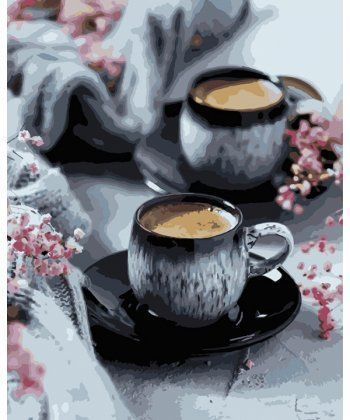 Картина по номерам Кофе на двоих 40 х 50 см (KH5548)  - Фото 1