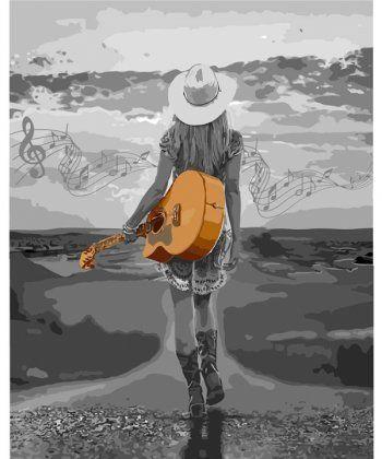 Картина по номерам На волнах музыки 40 х 50 см (KHO4571)  - Фото 1