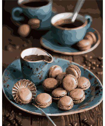 Картина по номерам Утренний кофе 40 х 50 см (KHO5550)  - Фото 1
