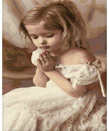 Картина по номерам Молитва ребенка 40 х 50 см (BK-G264)  - Фото 1