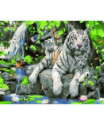 Картина по номерам Белые тигры 40 х 50 см (BK-GX23058)  - Фото 1