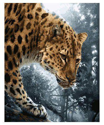 Картина по номерам Ягуар на охоте 40 х 50 см (BK-GX23571)  - Фото 1