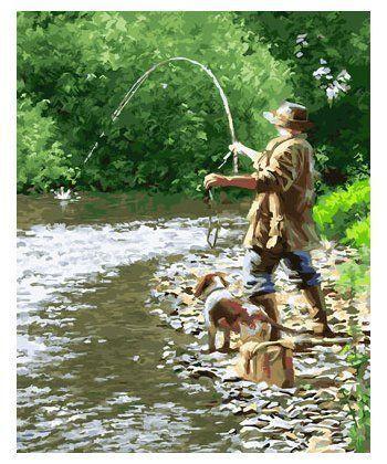 Картина по номерам Летняя рыбалка 40 х 50 см (BK-GX23646)  - Фото 1
