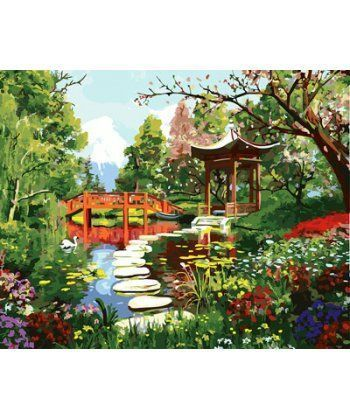 Картина по номерам Японский садик 40 х 50 см (BK-GX23746)  - Фото 1