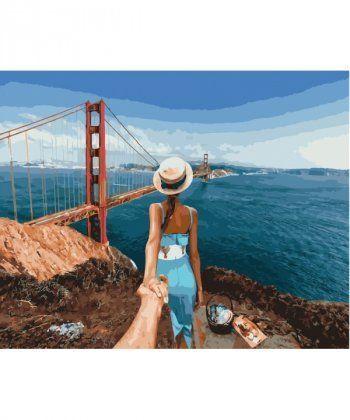 Картина по номерам Следуй за мной Мост Золотые ворота 40 х 50 см (BK-GX26369)  - Фото 1