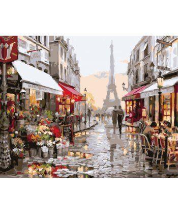 Картина по номерам Париж после дождя 40 х 50 см (BK-GX4547)  - Фото 1