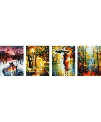 Картина по номерам Триптих Времена года Квартет 50 х 160 см (BK-PSX4004)  - Фото 1