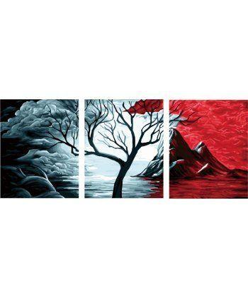 Картина по номерам Триптих День и ночь Триптих 50 х 120 см (BK-PX5108)  - Фото 1
