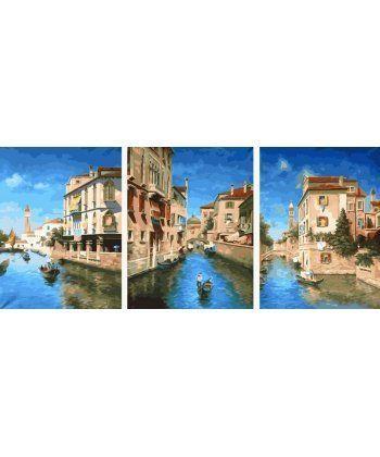 Картина по номерам Триптих Венеция Триптих 50 х 120 см (BK-PX5249)  - Фото 1