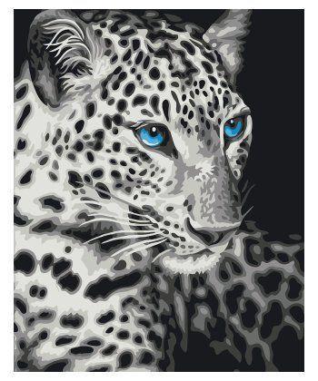 Картина по номерам Голубоглазый барс 40 х 50 см (BRM22284)  - Фото 1