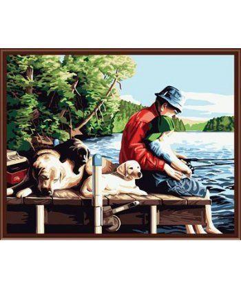 Картина по номерам На рыбалке 40 х 50 см (BRM6076)  - Фото 1