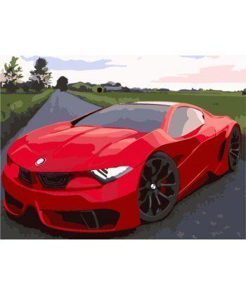 Картина по номерам Красное авто 40 х 50 см (BRM7295)  - Фото 1