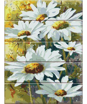 Картина по номерам Ромашки 30 х 40 см (ASW005)  - Фото 1
