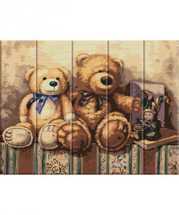 Картина по номерам Медвежата 30 х 40 см (ASW020)  - Фото 1
