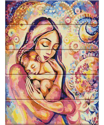 Картина по номерам Счастье материнства 30 х 40 см (ASW034)  - Фото 1