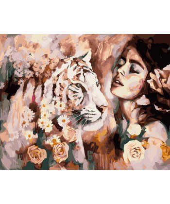 Картина по номерам Характер тигрицы 40 х 50 см (BK-GX21964)  - Фото 1