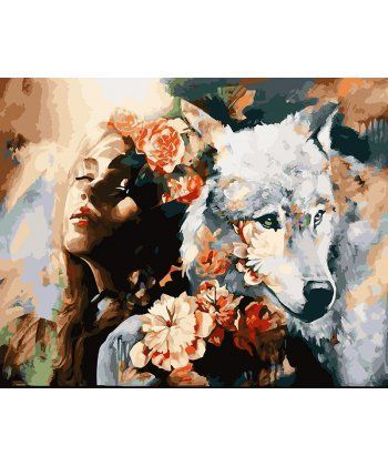 Картина по номерам Белая волчица 40 х 50 см (BK-GX22471)  - Фото 1