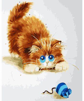 Картина по номерам Кошки-мышки 40 х 50 см (BK-GX22586)  - Фото 1