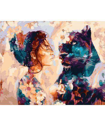 Картина по номерам Звездная пантера 40 х 50 см (BK-GX22875)  - Фото 1