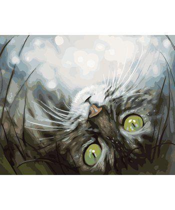 Картина по номерам Зеленоглазый кот 40 х 50 см (BK-GX22929)  - Фото 1