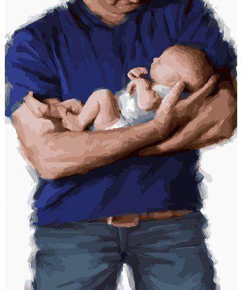 Картина по номерам Заботливый отец 40 х 50 см (BK-GX23686)  - Фото 1