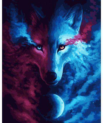 Картина по номерам Взгляд волка 40 х 50 см (BK-GX24578)  - Фото 1