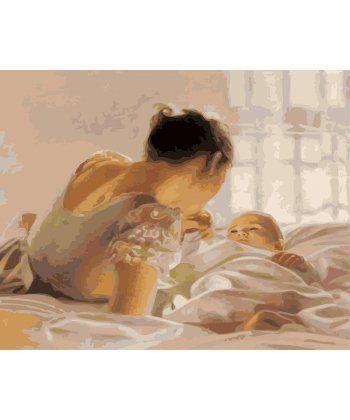 Картина по номерам Малыш и мама 40 х 50 см (BK-GX25114)  - Фото 1