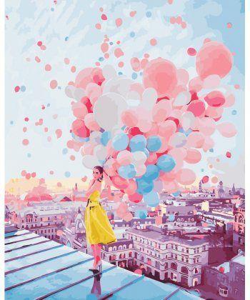 Картина по номерам Рассвет над крышами Парижа 40 х 50 см (BK-GX25364)  - Фото 1