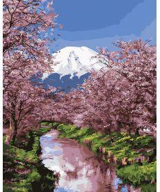 Картина по номерам Распустившаяся сакура 40 х 50 см (BK-GX25576)