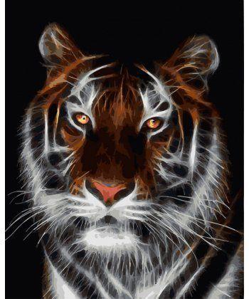 Картина по номерам Тигр во тьме 40 х 50 см (BK-GX4788)  - Фото 1