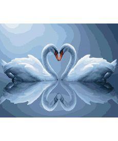 Картина по номерам Лебеди в лунном свете 40 х 50 см (BK-GX5311)