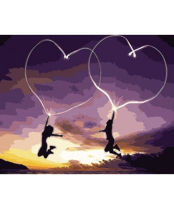 Картина по номерам Пылающие сердца 40 х 50 см (BK-GX9304)  - Фото 1