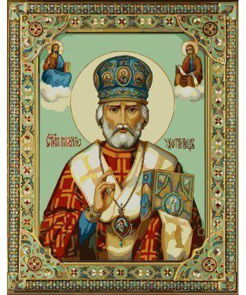 Картина по номерам Икона Николай Чудотворец 40 х 50 см (BK-GX9790)  - Фото 1